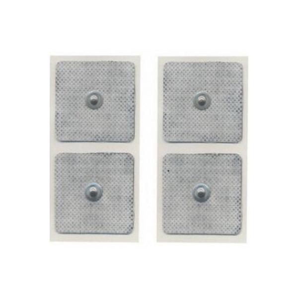 Elettrodi  GLOBUS  4 Elettrodi quadrati 50 x 50 mm a bottone