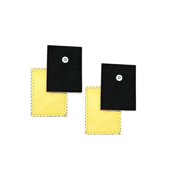 Elettrodi  GLOBUS  4 Elettrodi in daino per ionoforesi 80 x 120 mm