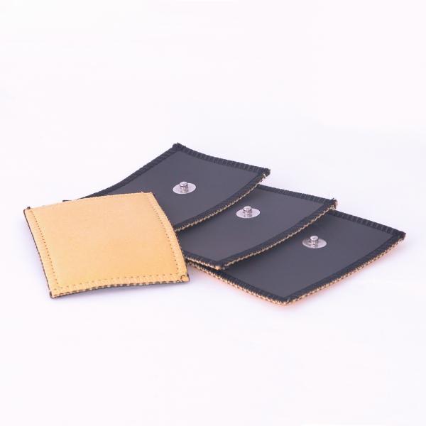 Elettrodi  GLOBUS  4 elettrodi in daino 80 x 60 mm a clip