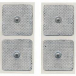 ElettrodiGLOBUSBlister 4 Elettrodi quadrati 50 x 50 mm a clip
