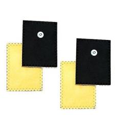 ElettrodiGLOBUS4 Elettrodi in daino per ionoforesi 80 x 120 mm