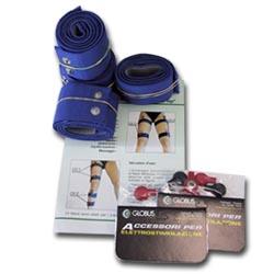 Elettrodi  GLOBUS  Kit 8 fasce elastiche conduttive per cosce e gambe