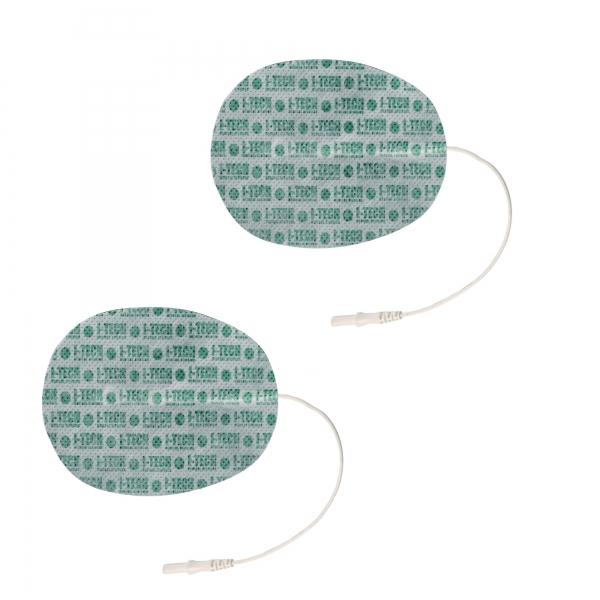 Elettrodi  I-TECH  2 Elettrodi ovali 130 x 76 mm a cavetto