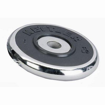 Kettler Disco Peso Cromato Gomma Kg. 10 Pesi - Panche - Palestre