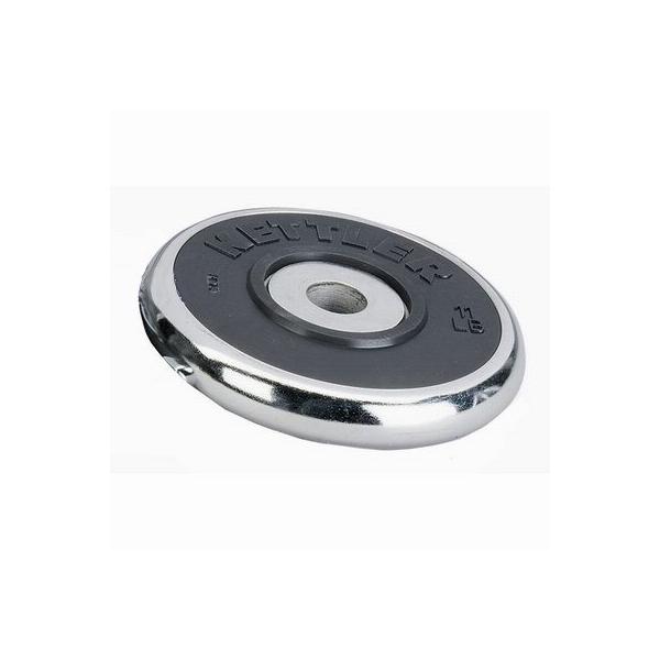 Pesi a disco  KETTLER  Coppia Dischi Cromati Gomma 2 x 1.25 Kg - 30 mm diam.