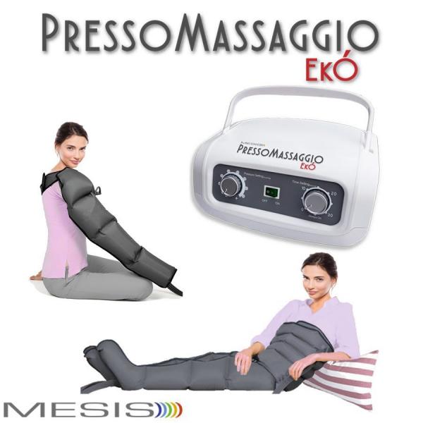 Pressoterapia  Mesis  PressoMassaggio Ekò con 2 gambali e Kit slim body e bracciale