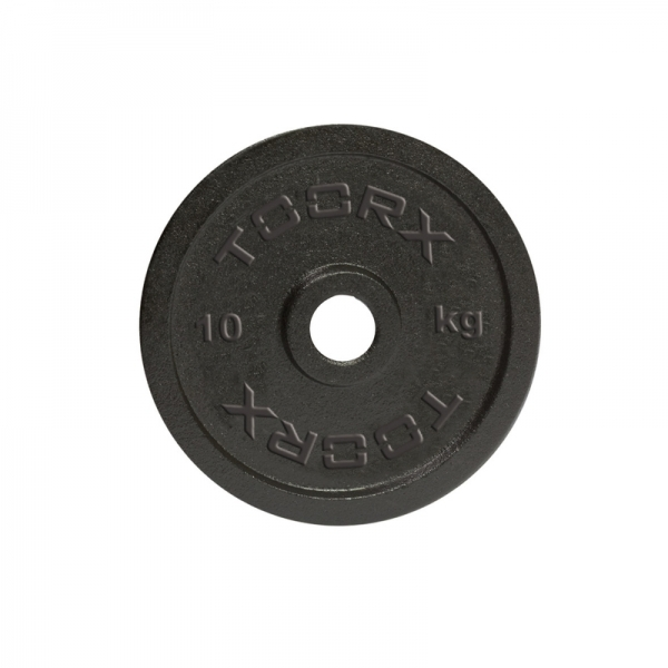 Pesi a disco  TOORX  Coppia Dischi ghisa nera KG. 1 cadauno