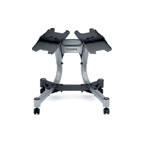 Toorx Carrello Porta Pesi Per 2 Manubri A Carico Regolabile